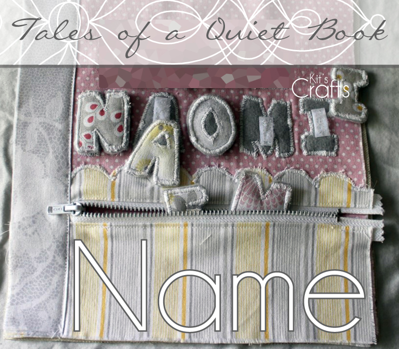 Kit's Crafts - Quiet Book, Name Page