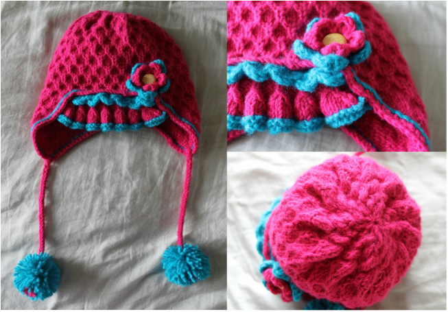 Childrens Knitted Earflap Hat Pattern Kits