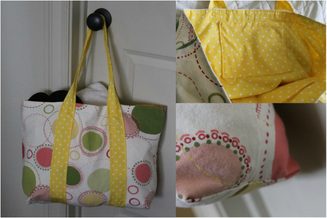 DIY Beach Bag from fabric remnants