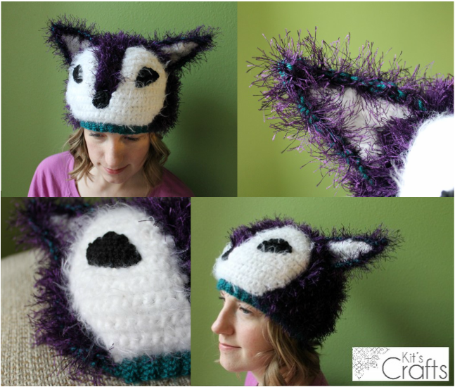 Kits Crafts - Crochet Fox Hat #FreeCrochetPattern