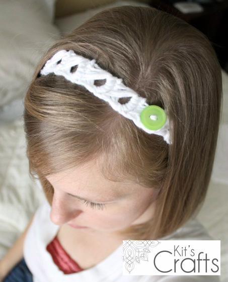Kit's Crafts - Broomstick Lace Headband #FreeCrochetPattern