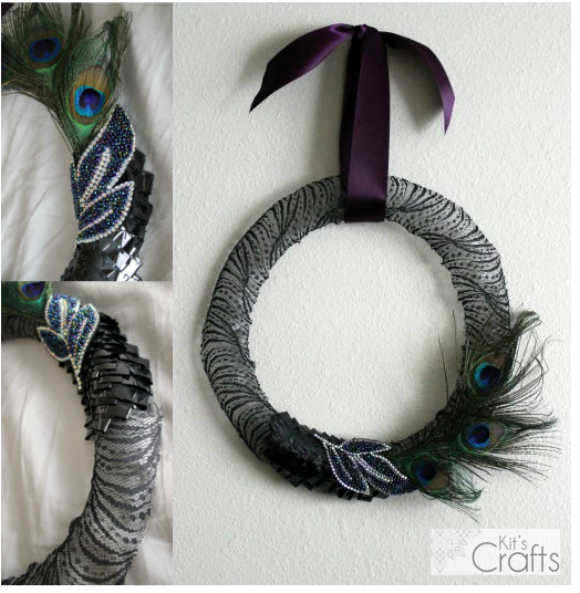 Kit's Crafts - Lacy Halloween Wreath