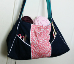 Kit's Crafts - Knitting Bag Tutorial