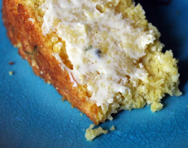 Kit's Crafts - Super Moist Cornbread (with fresh corn and basil)