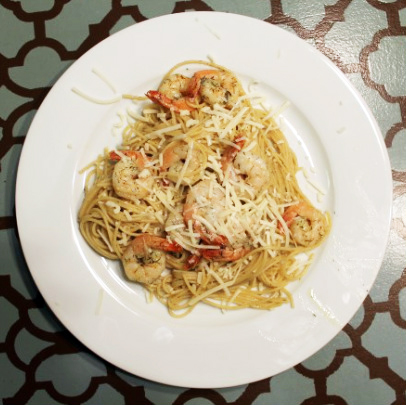 Kit's Crafts - Shrimp Pasta