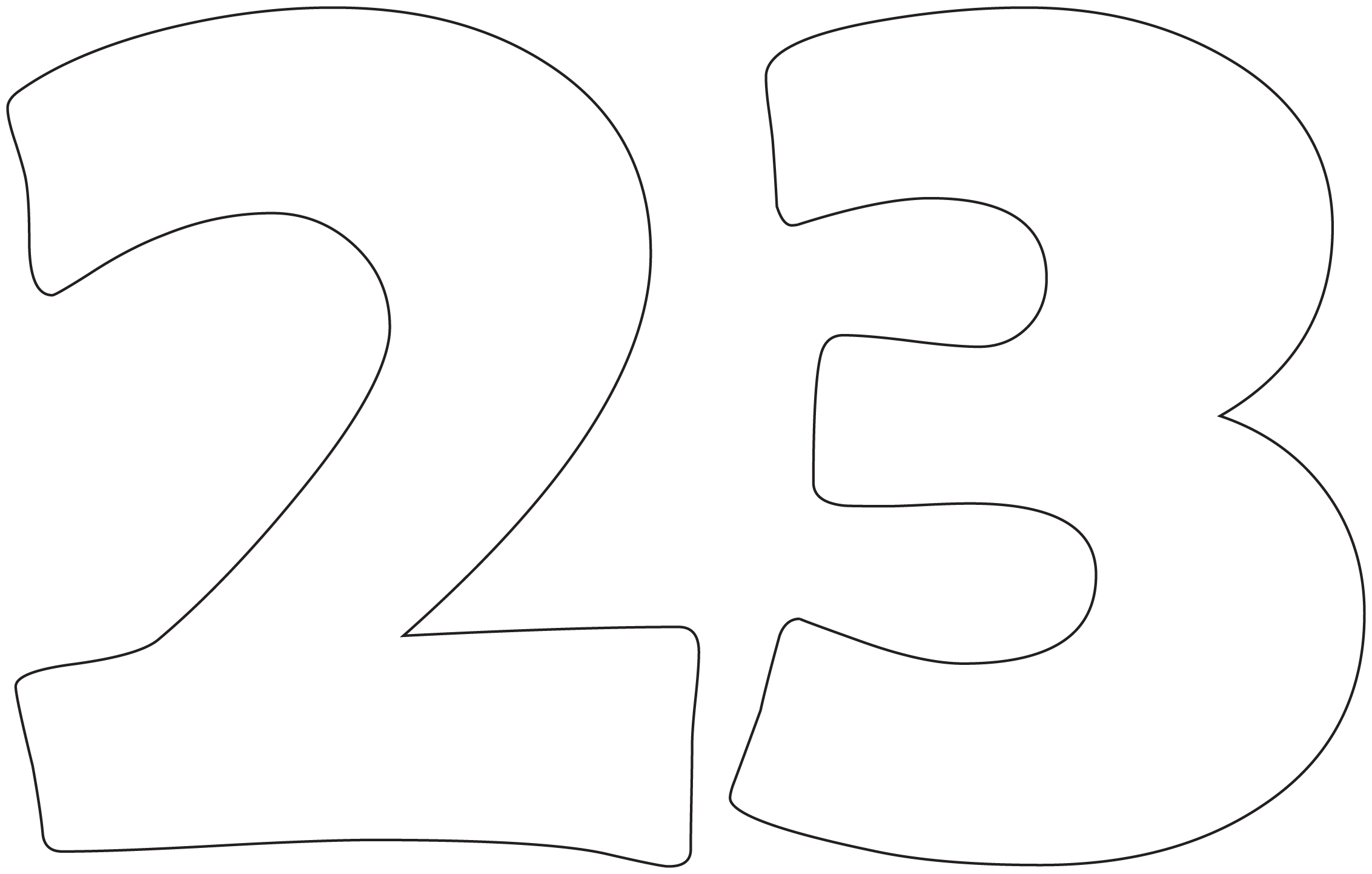 Free Coloring Pages Of Number 6 Template
