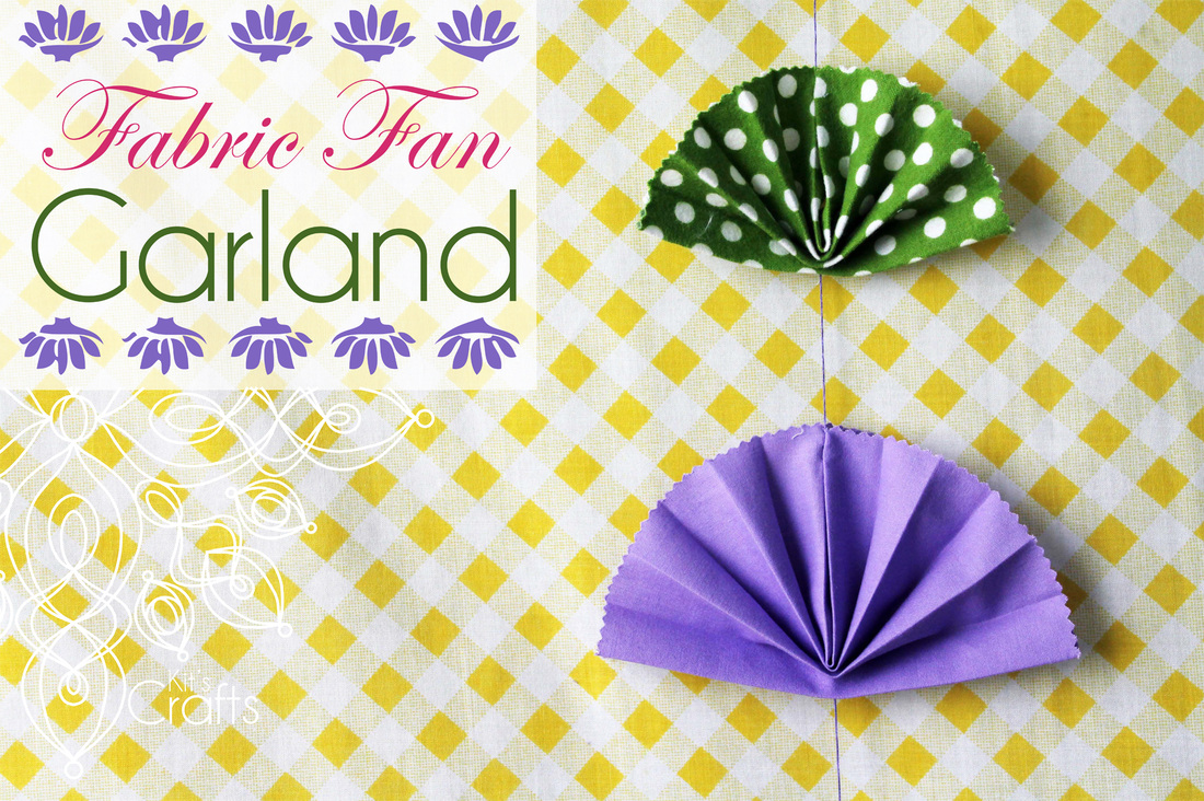 Kit's Crafts - Fabric Fan Garland