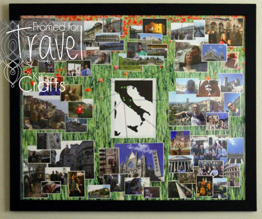 Kit's Crafts - Framed for Travel, memorialize your roadtrip with this great idea!