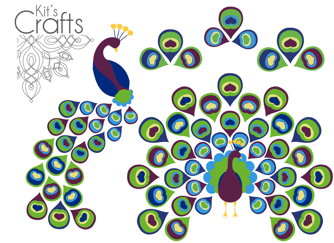 Kit's Crafts - Free Peacock Printable