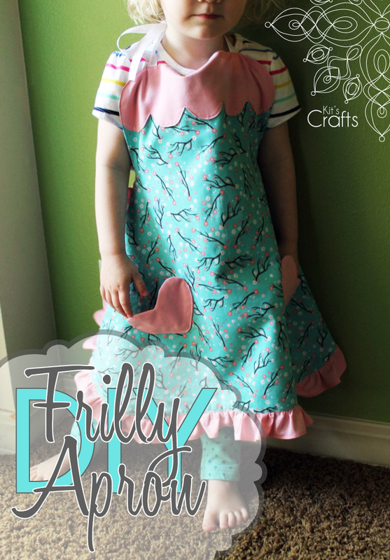 Kit's Crafts - DIY Frilly Apron