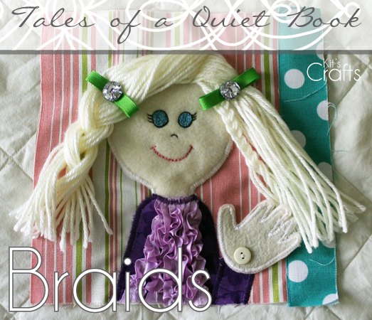 Kit's Crafts - Quiet Book, Braids Page
