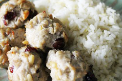 Kit's Crafts - Sweet Meatballs and Lemon Rice