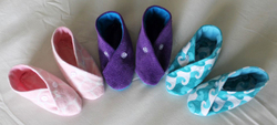 Kit's Crafts - Fabric Baby Booties