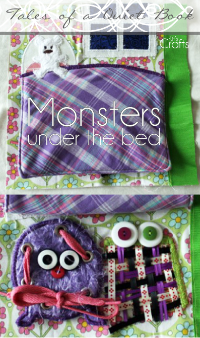 Kit's Crafts - Quiet Book, Monsters Under the Bed