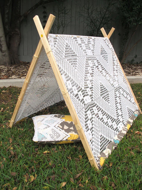 A-Frame Tent with Crochet Beadspread