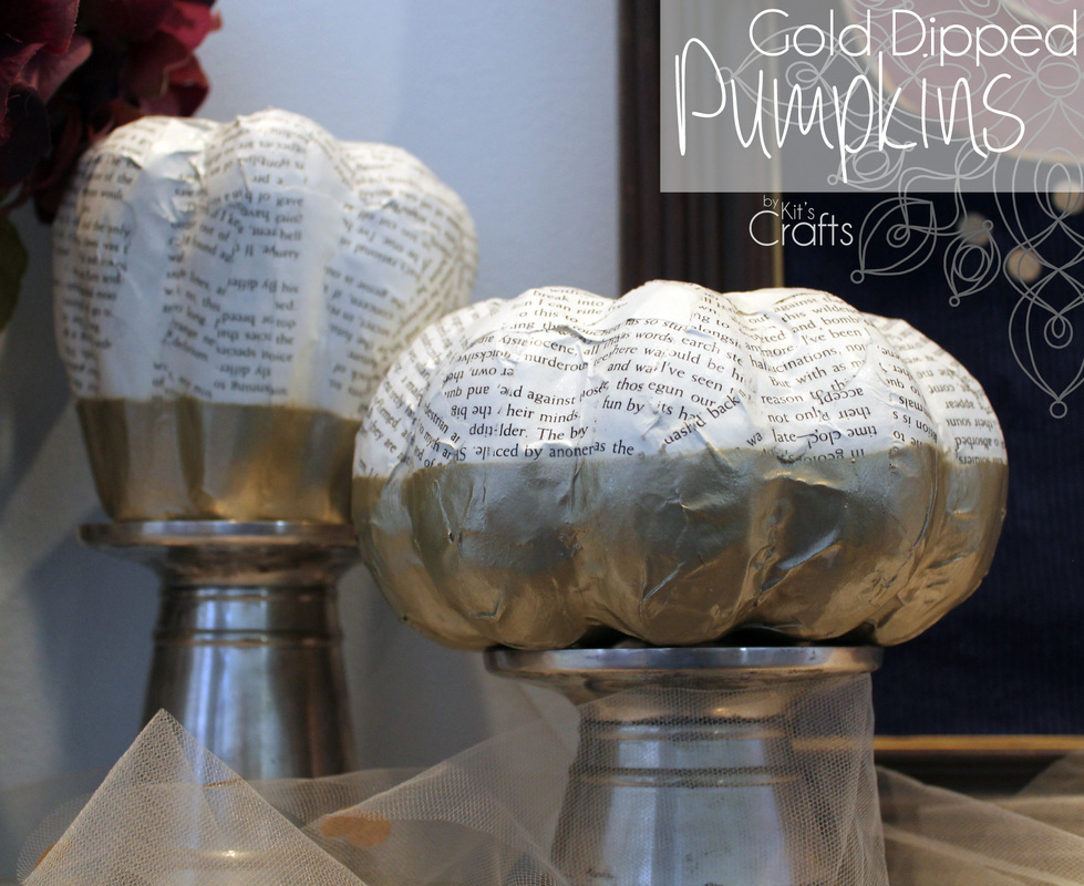 Kit's Crafts - #GoldDipped Pumpkins DIY