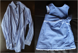 Kit's Crafts - Men's Dress Shirt to Baby Dress