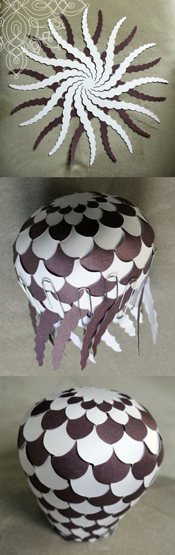Kit's Crafts - Woven Paper Balloon Hanging Mobile