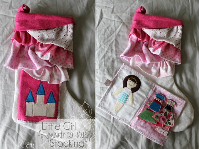 Kit's Crafts - Little Girl #AsymmetricalRuffle #Stocking