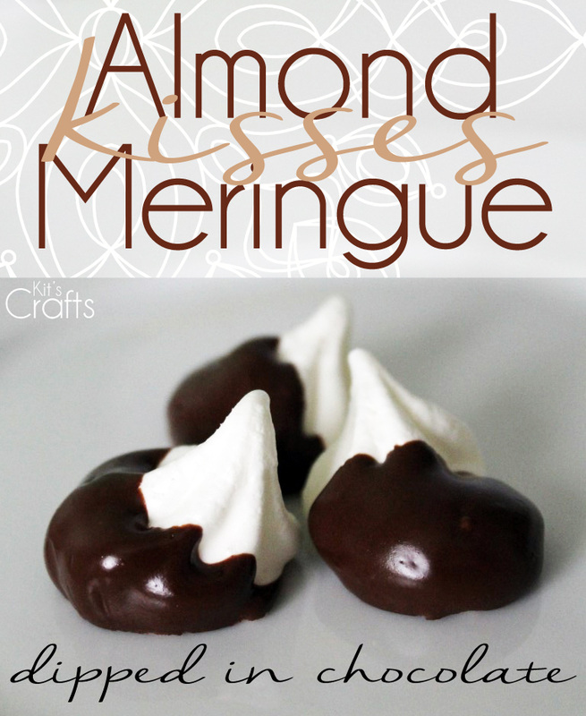 Kit's Crafts - Almond Meringue Kisses dipped in chocolate