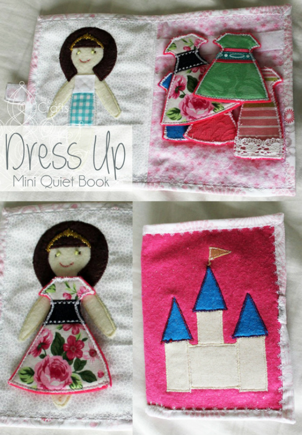 Kit's Crafts - Dress Up Mini #QuietBook