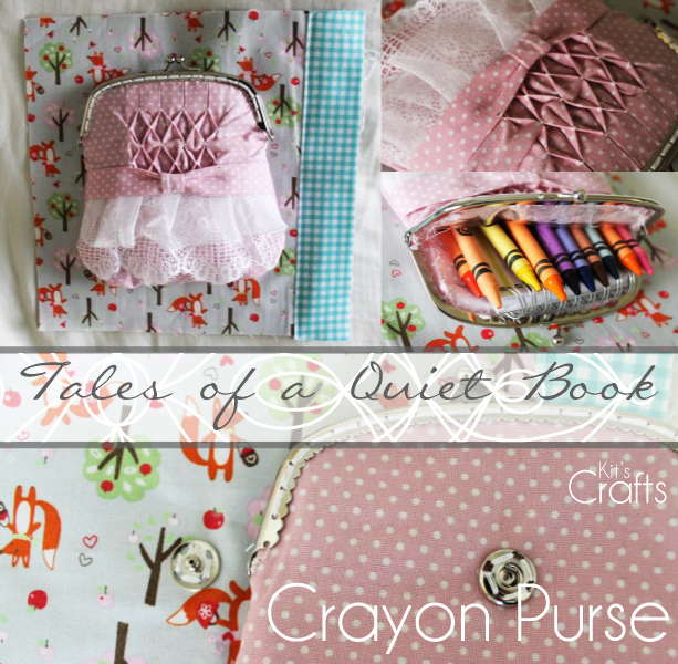 Kit's Crafts - Quiet Book, Crayon Purse