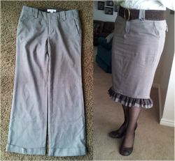 Kit's Crafts - Pants to Skirt