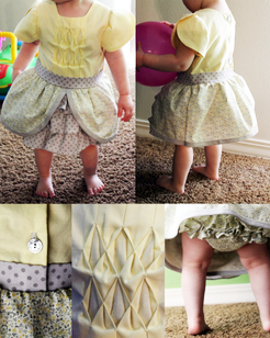 Kit's Crafts - Canary Baby Dress