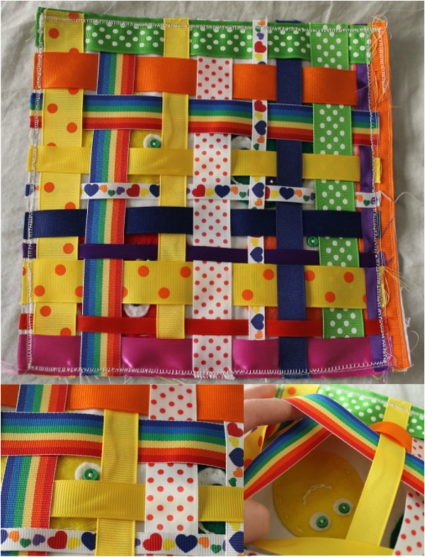 DIY Quiet Book Peek a Boo Page