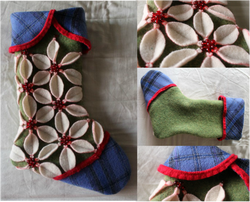 Kit's Crafts - Poinsettia Stocking