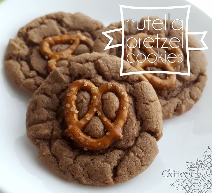 Kit's Crafts - Nutella Pretzel Cookies